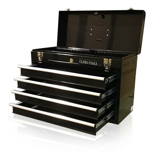 338 US Pro tools Portable Toolbox Tool Chest Box Cabinet ...