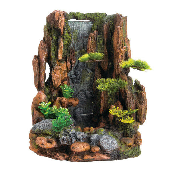 Top fin air bubble mountain cliff aquarium ornaments 7 5 for Aquarium waterfall decoration
