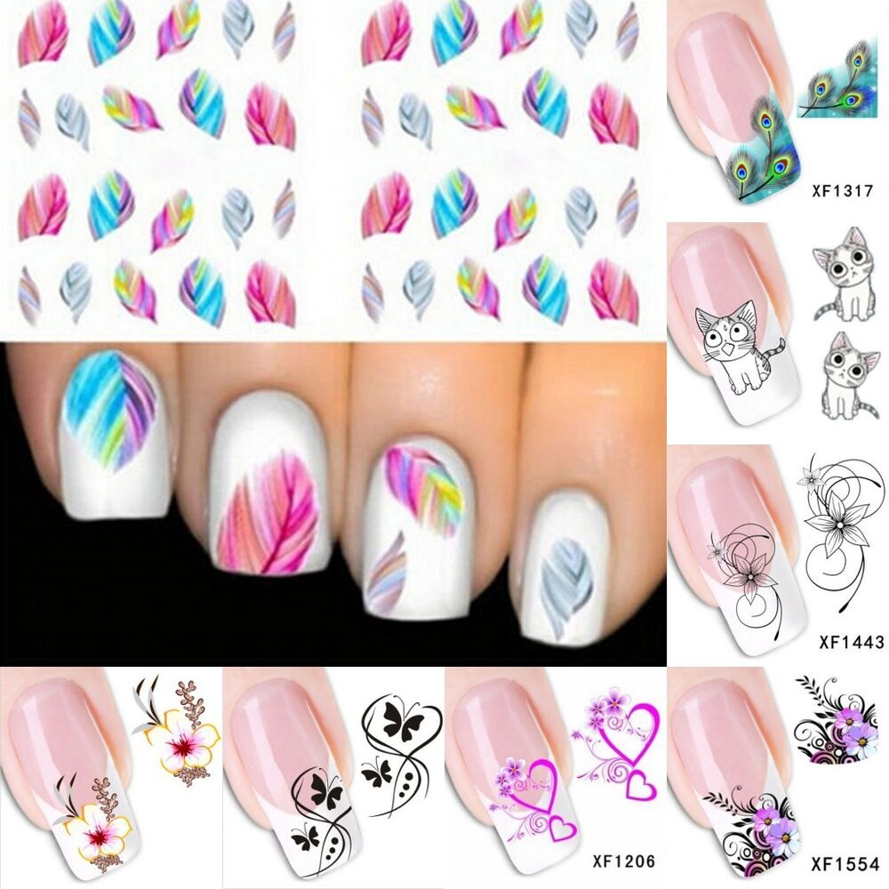 3d beauty nail art sticker water transfer stickers for 3d nail art decoration