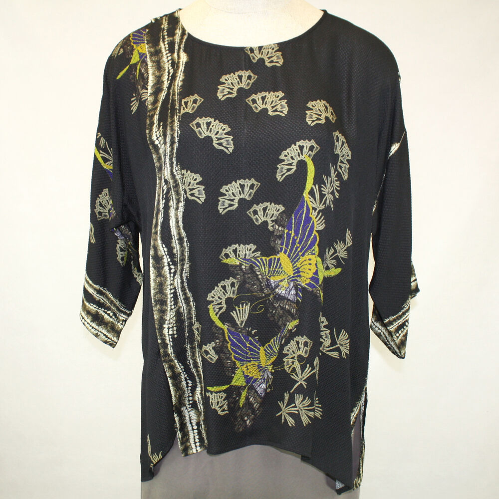 NEW NWT Citron Clothing Fall Winter Plus Size 100% Silk ...