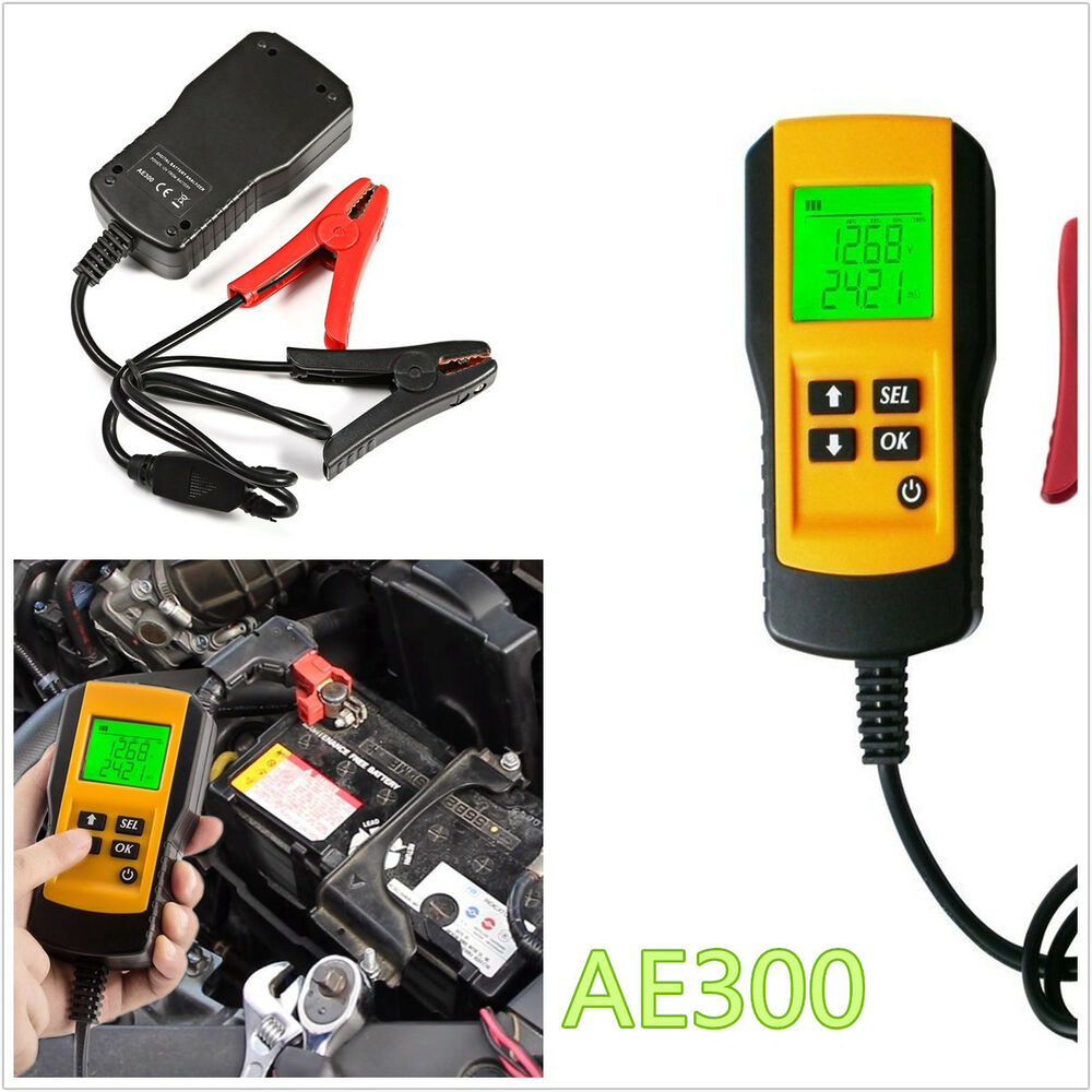 professional lcd display ae300 12 24v digital automotive battery load tester kit ebay. Black Bedroom Furniture Sets. Home Design Ideas