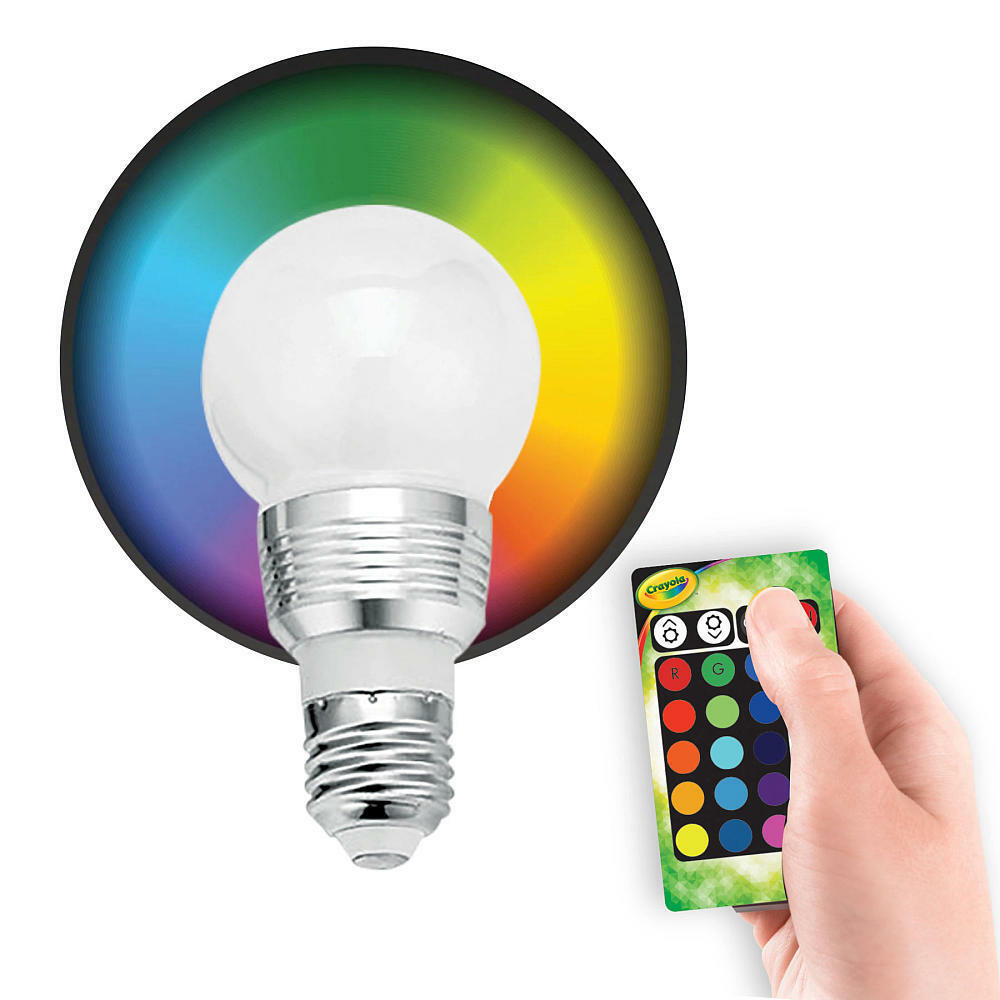 crayola multi color led bulb 1 pack ebay. Black Bedroom Furniture Sets. Home Design Ideas