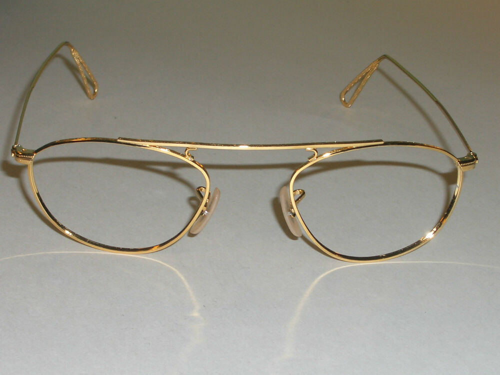 Gold Plated Glasses Frames : 48mm VINTAGE B&L RAY BAN 24K GOLD PLATED CLASSIC ...