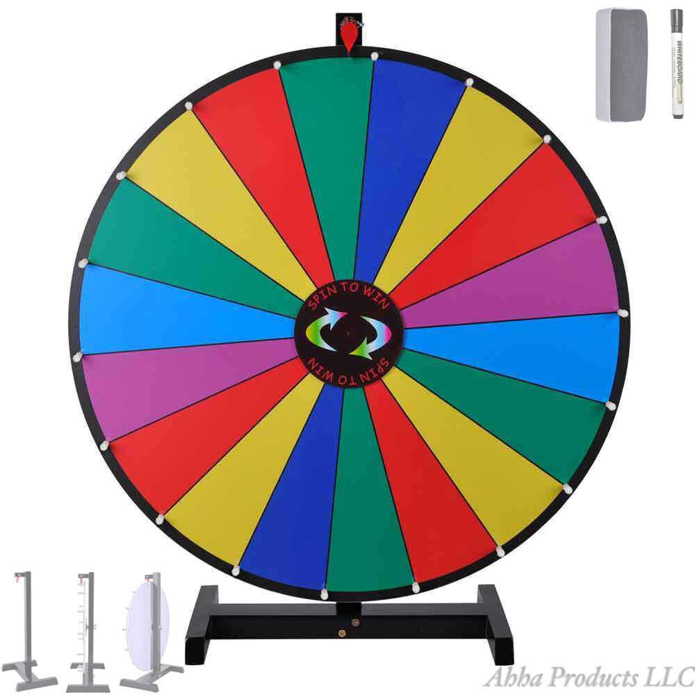 colorful spin to win 30 wheel of fortune tabletop prize tradeshow game 18 slot ebay. Black Bedroom Furniture Sets. Home Design Ideas