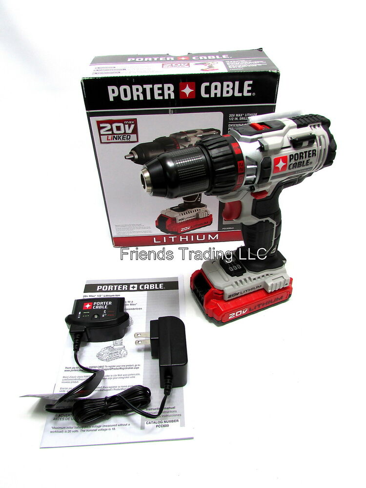 Porter Cable 20V 20 Volt Lithium Ion Cordless Drill Driver