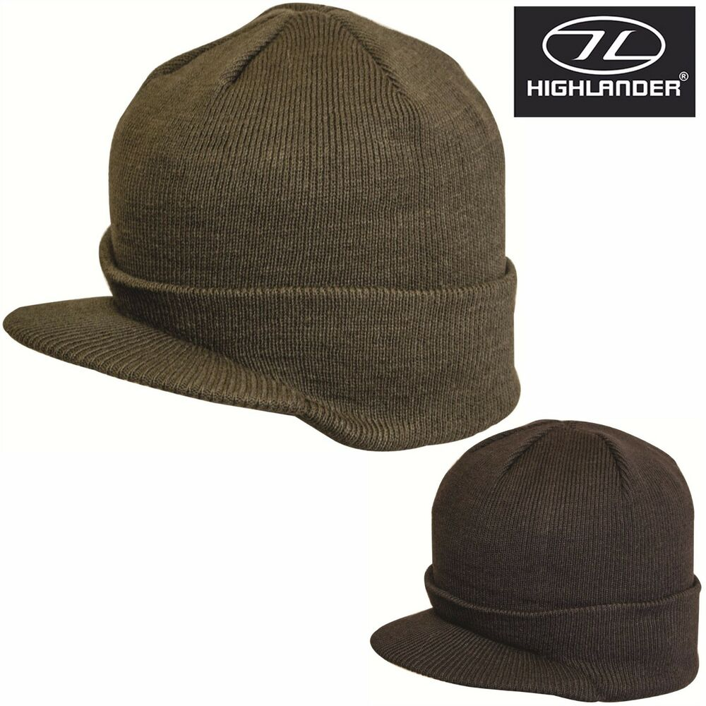 Details about Mens Peaked Beanie Thinsulate Army Thermal Winter Ski Hat  Peak Jeep Mash Hats 7d30b317402