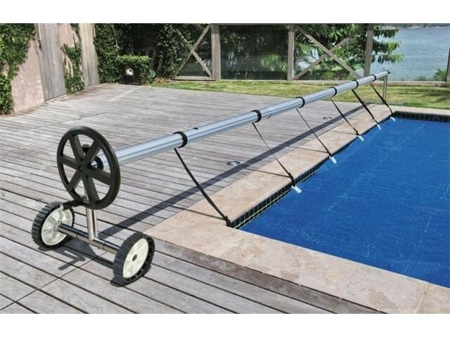 Stainless Steel 21 Ft Inground Swimming Pool Cover Reel Tube Set Solar Cover Ebay