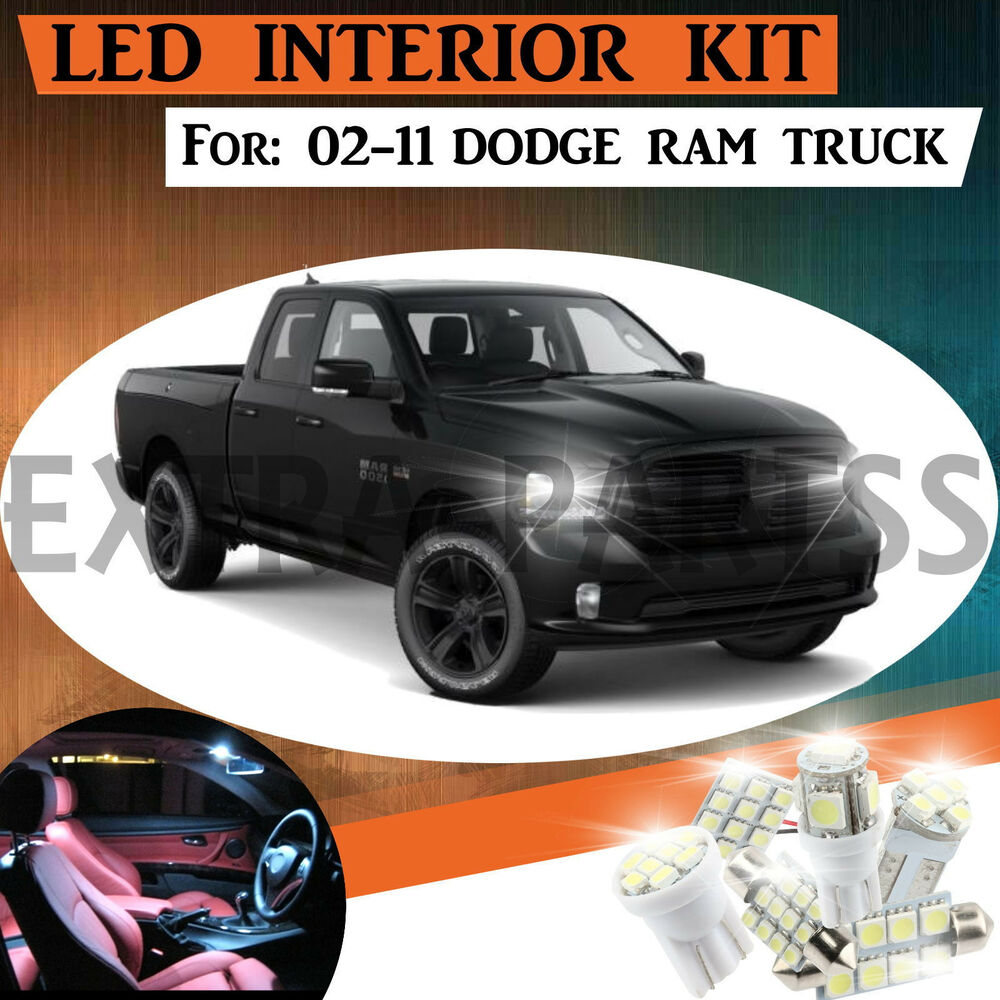 10pc Interior Led Light Bulbs Package Kit For 02 11 Dodge Ram 1500 3500 Ebay
