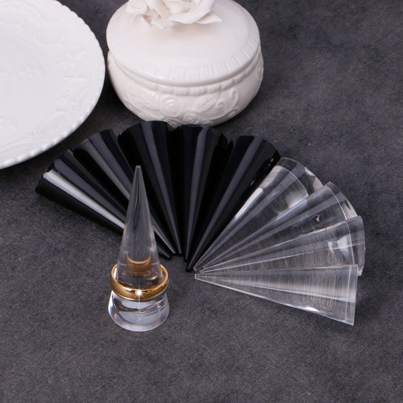 5pcs acrylic finger cone ring stand jewelry display holder. Black Bedroom Furniture Sets. Home Design Ideas