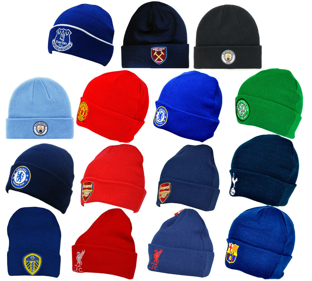 5afa9b13677 Official Football Club - KNITTED HAT (Cuff Turn Up) Crest (Winter Wooly  Beanie)