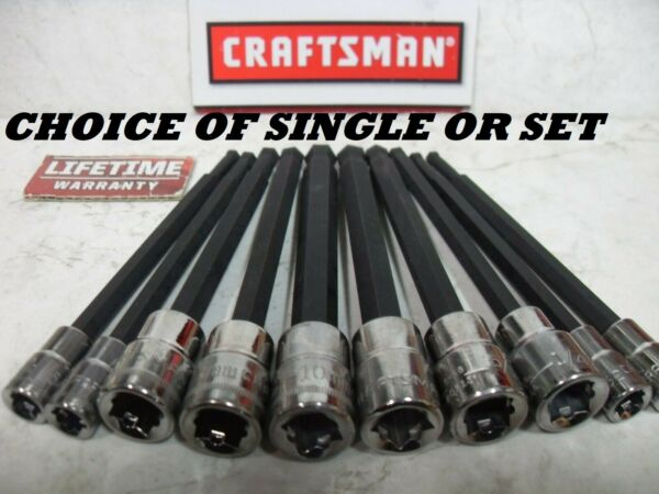 NEW CRAFTSMAN SAE METRIC BALL END LONG HEX KEY SOCKET BIT ALLEN SINGLE OR SET