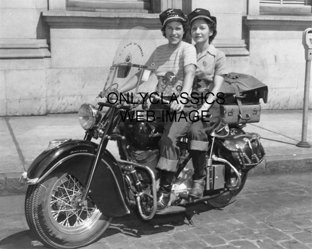 1947 motor maids woman motorcycle club photo girl rider on for Ebay motors indian motorcycles