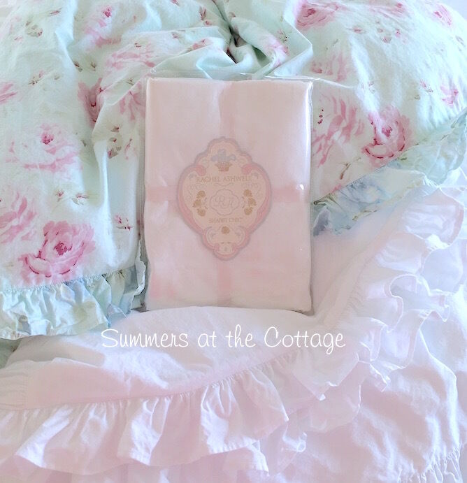 NEW Rachel Ashwell Shabby Chic White Ruffle Duvet & Pillow Sham Poplin Cotton eBay