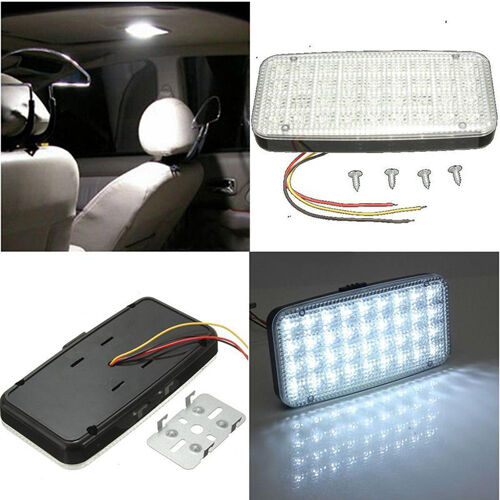 12v 36 led car vehicle vans truck dome roof ceiling interior light lamp white ebay. Black Bedroom Furniture Sets. Home Design Ideas