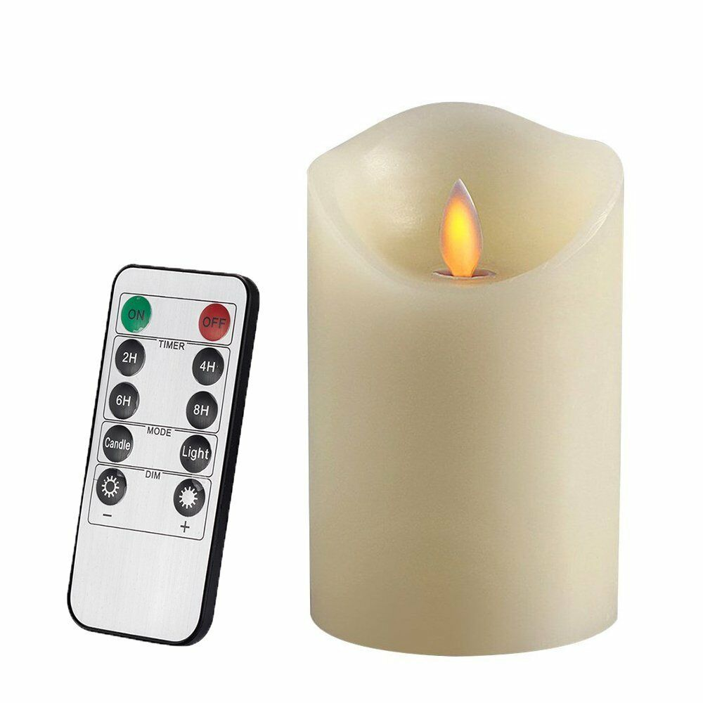 air zuker flameless candles battery operated pillar led candle real wax ebay. Black Bedroom Furniture Sets. Home Design Ideas