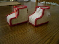 New HANDMADE Red Baby Unisex Shower Booties Favors