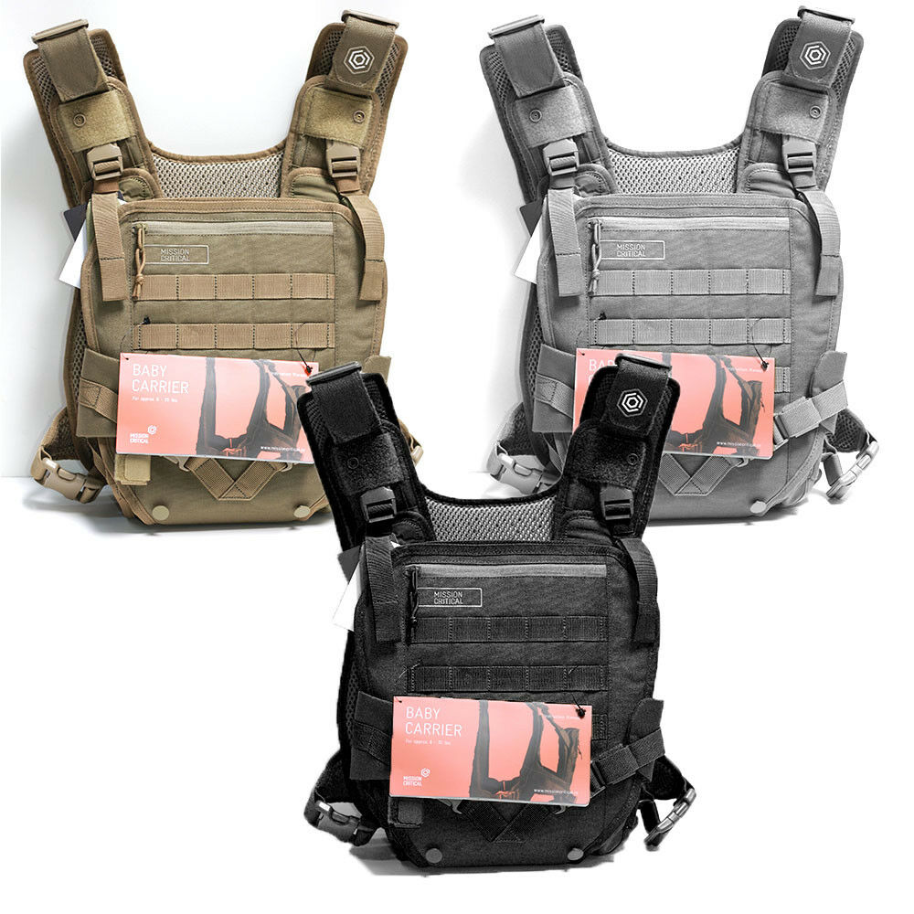 Mens Mission Critical Military Tactical Baby Carrier Front