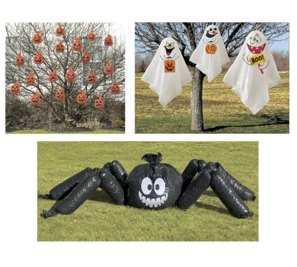 HALLOWEEN Outdoor Party Decorations {Unique} (Spider/Ghost/Pumpkin/Spooky/Scary)
