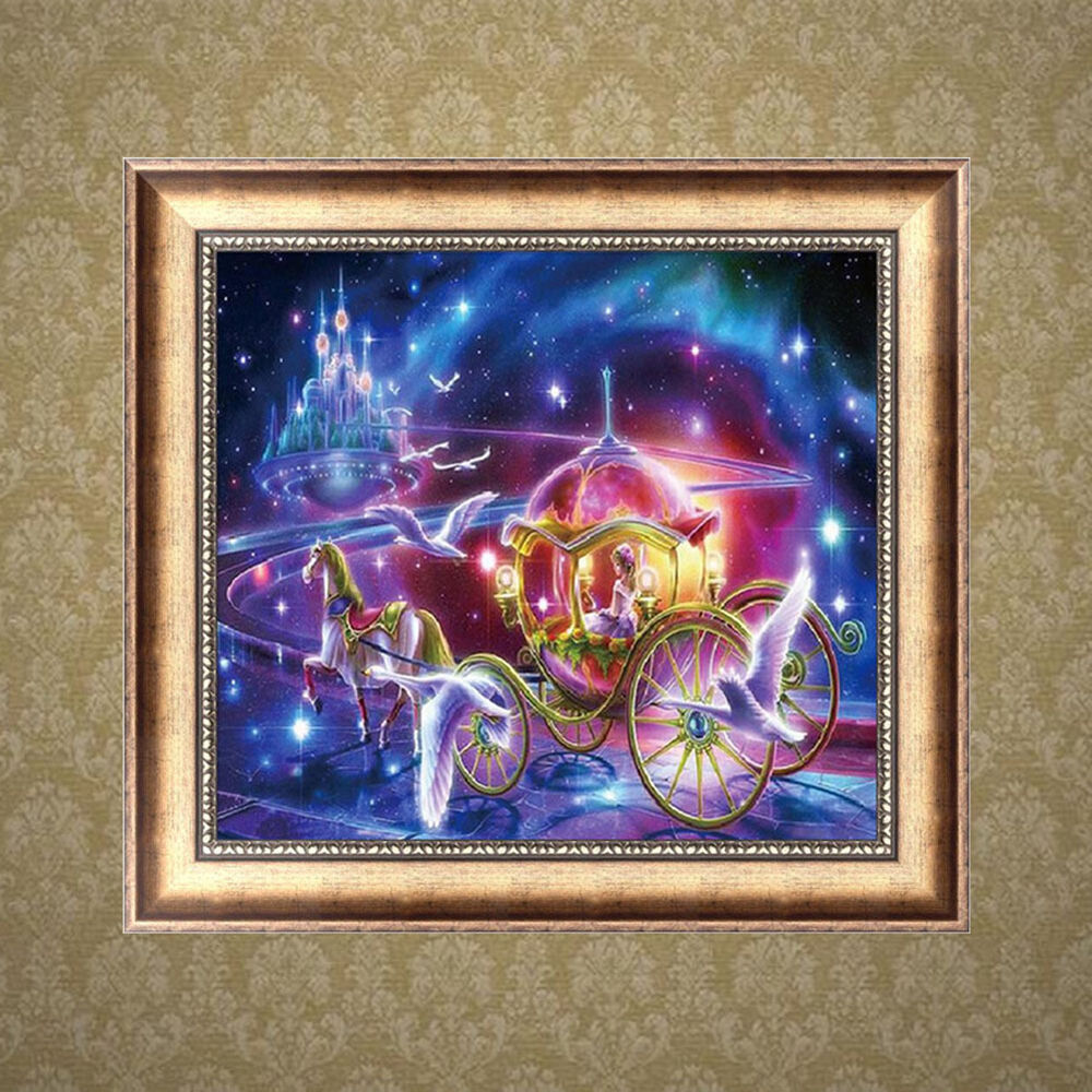 carriage 5d diamond embroidery diy craft painting cross stitch mosaic home decor 664735257834
