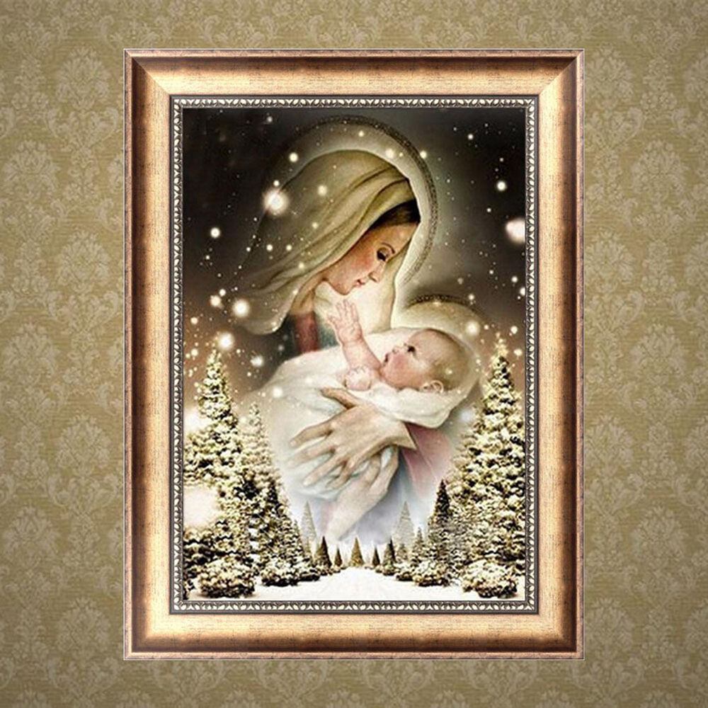 Woman And Baby 5d Diamond Embroidery Diy Craft Painting