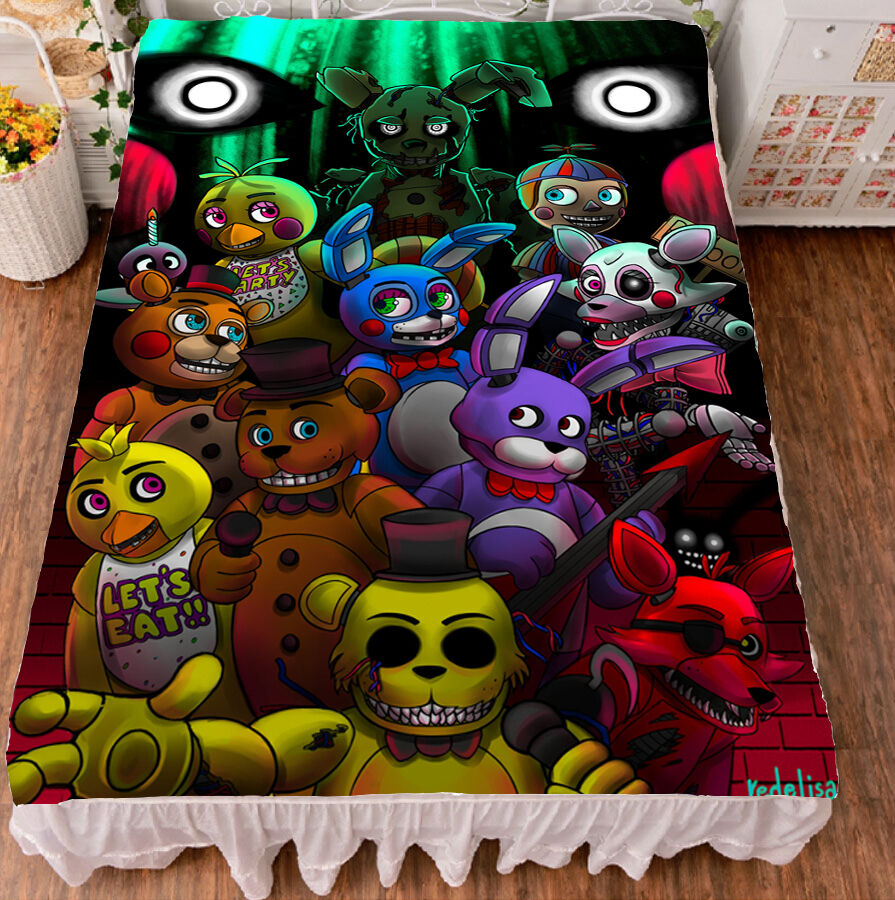 five nights at freddy's game hd print bed sheet micro