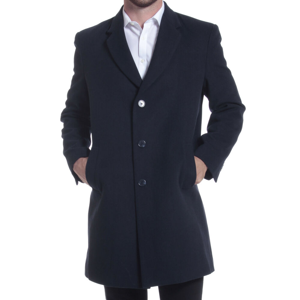alpine swiss luke wool mens tailored 37 walker jacket top coat car coat overcoat ebay. Black Bedroom Furniture Sets. Home Design Ideas