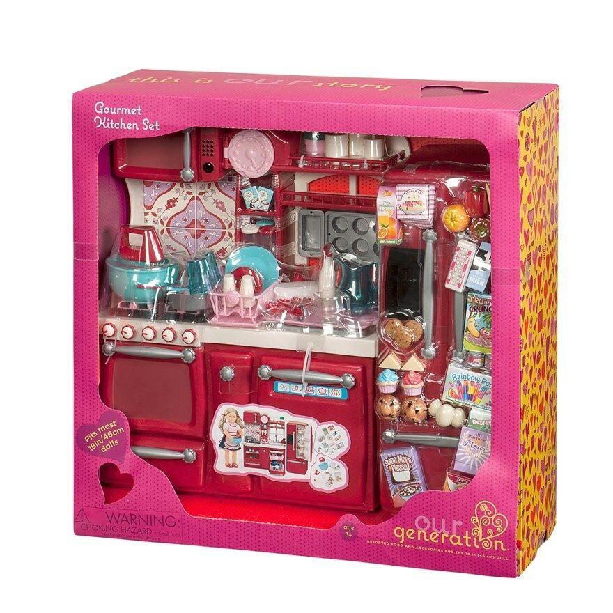 our generation gourmet kitchen set cooking dolls playset