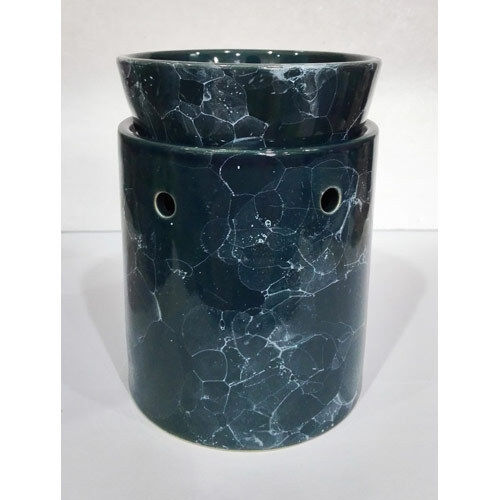 Tall Blue Marbled Ceramic Electric Scented Oil Tart Candle