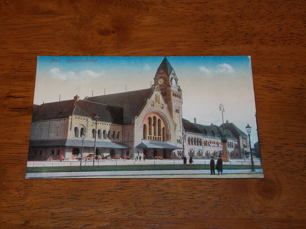 postcard vintage metz france hauptbahnhof ebay. Black Bedroom Furniture Sets. Home Design Ideas