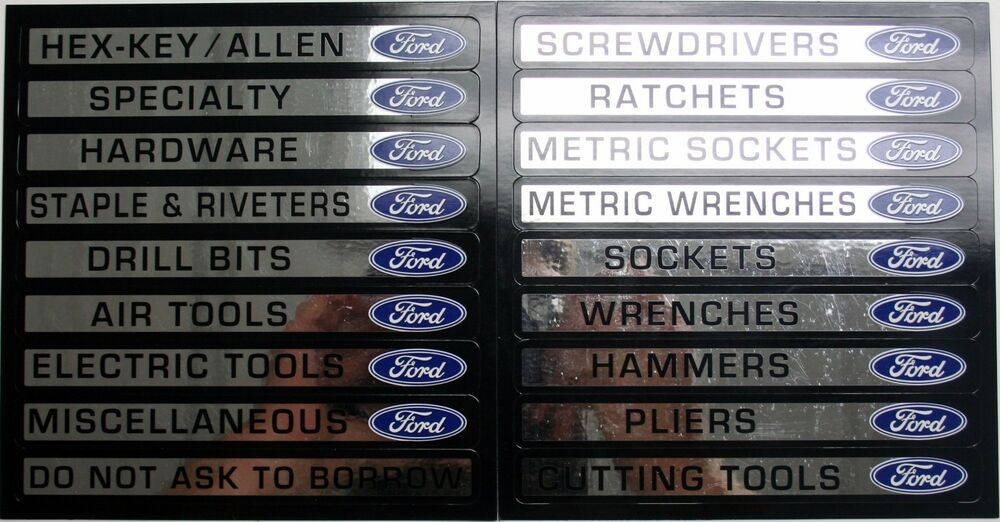 16 Ford Tool Box Magnets Snap On Matco Craftsman Label