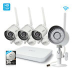 Zmodo 720p HD 4 IP Wireless Outdoor IR Night Vision Home Security Camera System