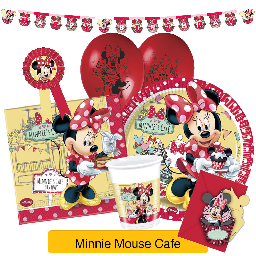 Disney MINNIE MOUSE CAFE Birthday Party Range (Tableware