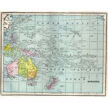 1899 Antique OCEANIA Map POLYNESIA Map Pacific Islands Map Gallery Wall Art 3271