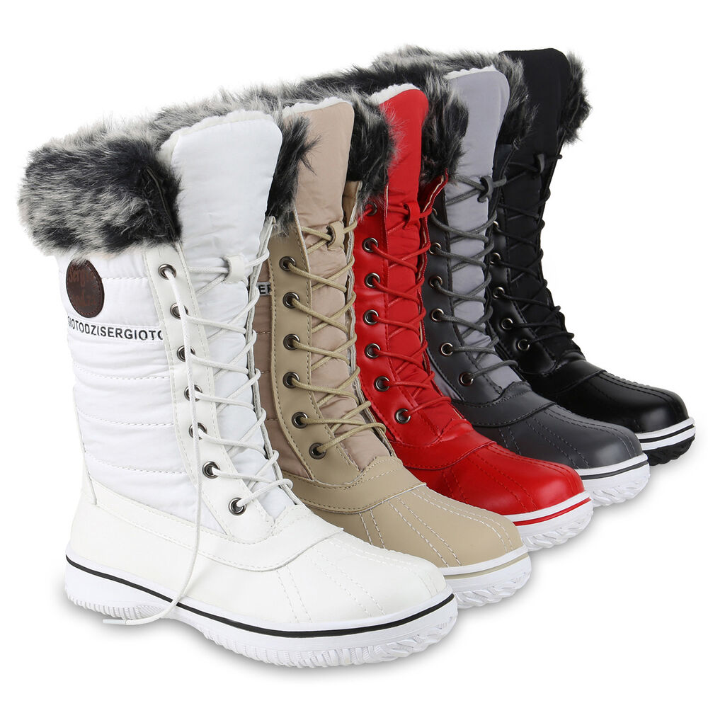 warm gef tterte damen stiefel winterstiefel snow boots waterproof 814080 schuhe ebay. Black Bedroom Furniture Sets. Home Design Ideas