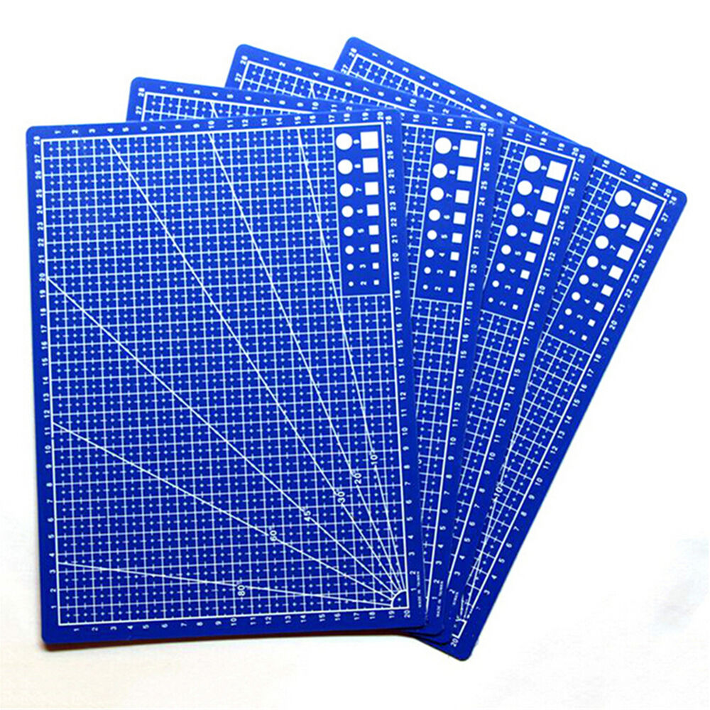 A4 cutting craft mat printed line grid scale plate knife for Plastic grid sheets crafts