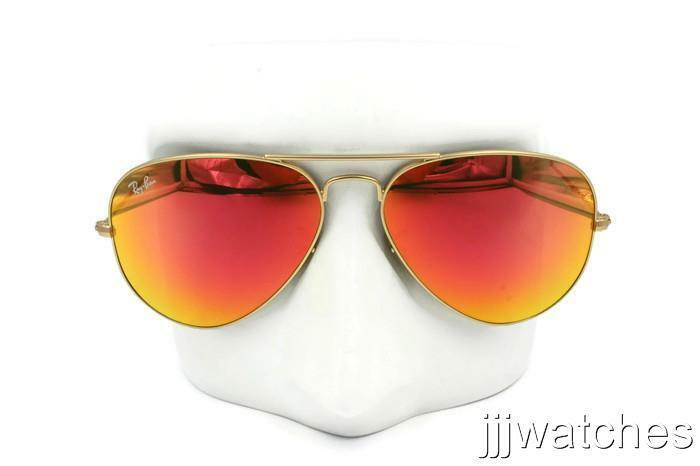 03601e98542 Details about New Ray-Ban Aviator Large Metal Orange Flash Sunglasses  RB3025 112 69 58  175