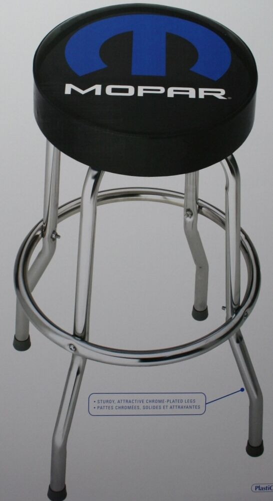 Mopar Bar Stool Chair Shop Work Garage Top Man Cave Dodge