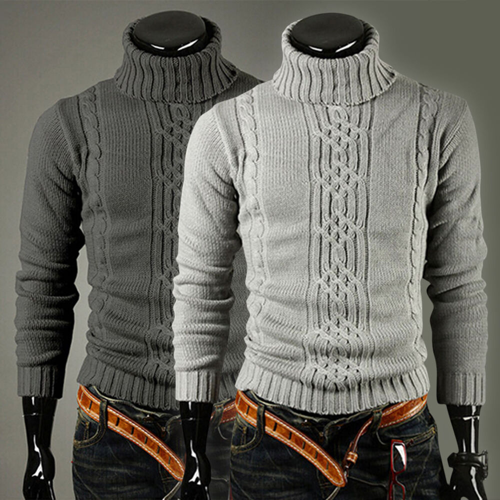 Mens Roll Neck Sweater