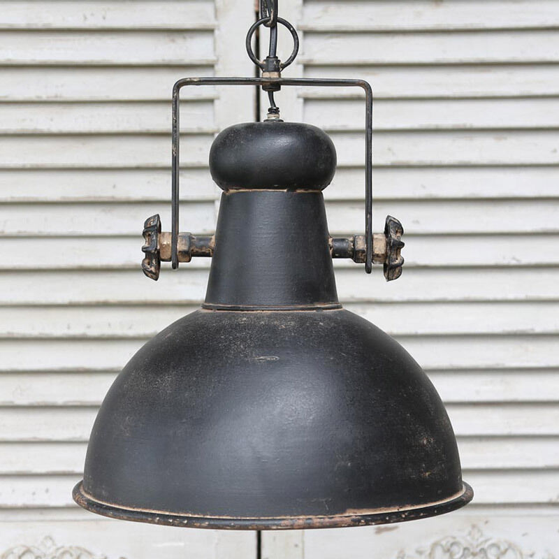 Black Ceiling Lights: Black Retro Industrial Style Ceiling Light Fitting Rustic