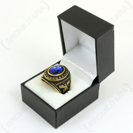 img-US Service Ring Air Force - Pilot Blue Steel Mens Jewellery All Sizes New