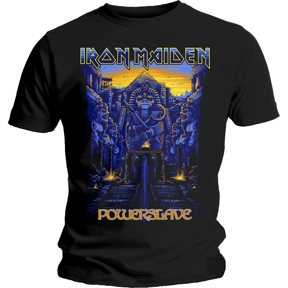 iron maiden powerslave dark t shirt s to xxl new official aces high trooper ebay. Black Bedroom Furniture Sets. Home Design Ideas