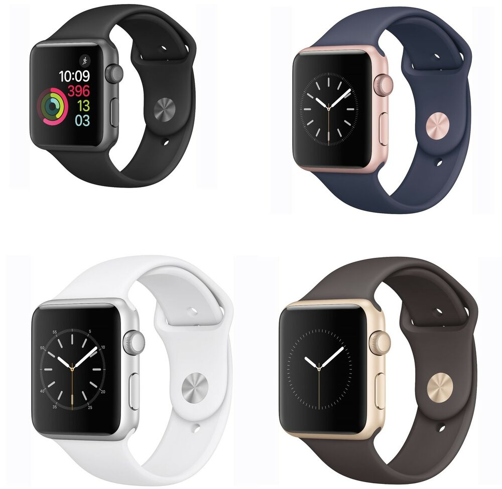 apple watch series 1 42mm sport band all colors ebay. Black Bedroom Furniture Sets. Home Design Ideas