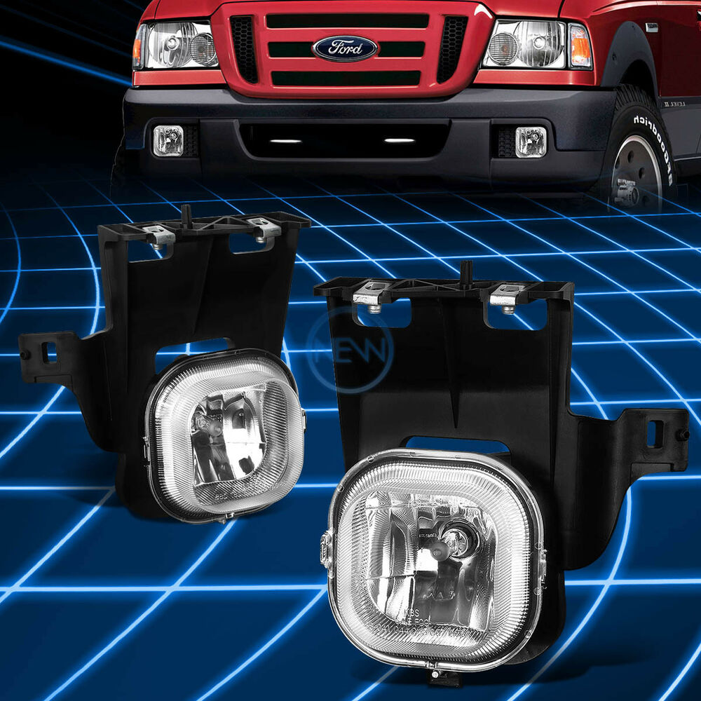 Details About Chrome Clear Front Driving Fog Light Lamp Pair For 2006 2007 Ford Ranger Pickup
