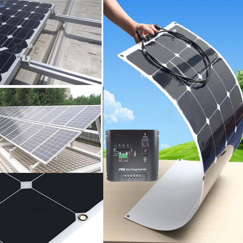 Sunpower 100w 200w 300w 400w 500w 1kw Semi Flexible Mono