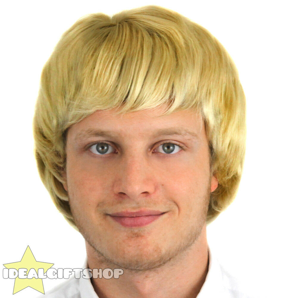 Mens Blonde Wig Adult Boyband Hairstyle 1960 S 1970s 1980s