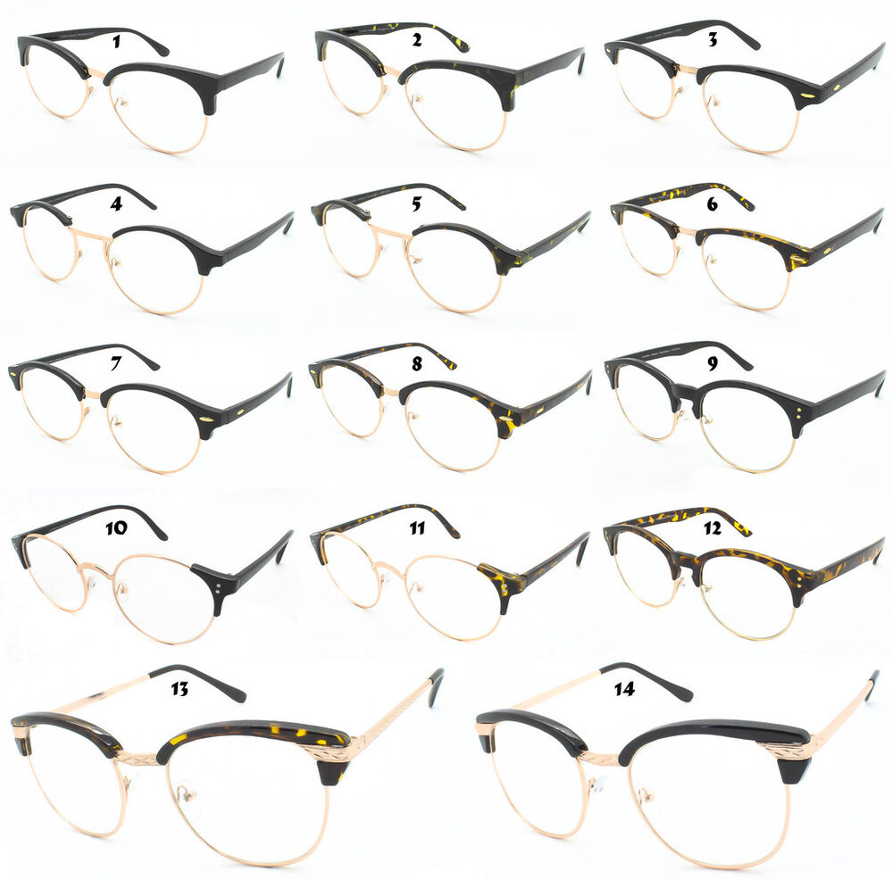 round clear lens glasses retro dapper cat eye frame vtg men women u0026 39 s geek hipster