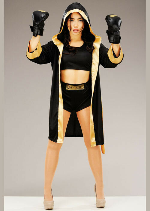 Shiv Naresh Teens Boxing Gloves 12oz: Womens Sexy Knockout Boxer Costume