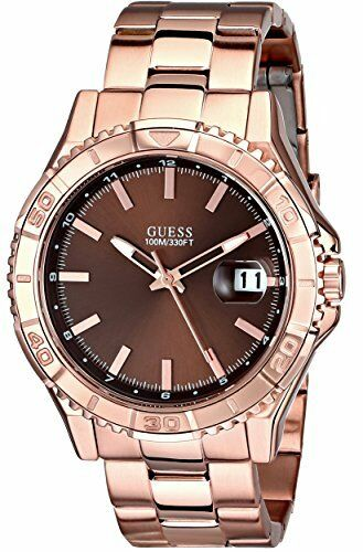 Details about NEW GUESS ROSE GOLD TONE,STAINLESS STEEL,BROWN DIAL,BRACELET  WATCH-U0244G6 00442c1270