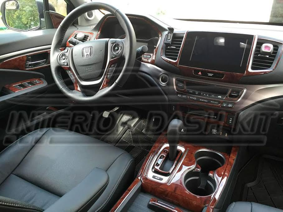 Honda Pilot Lx Ex Ex L Touring Interior Wood Dash Trim Kit Set 2016 2017 2018 Ebay