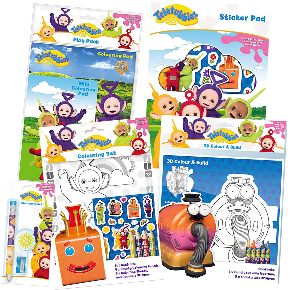 Teletubbies Coloring Book Kids Fun Com: Colouring/Activity/Sticker/Busy Packs/Books